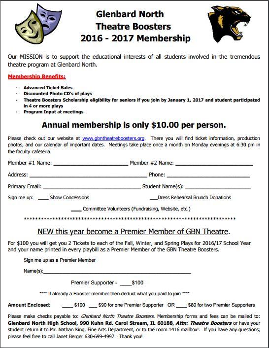 2016-2017 Membership Form