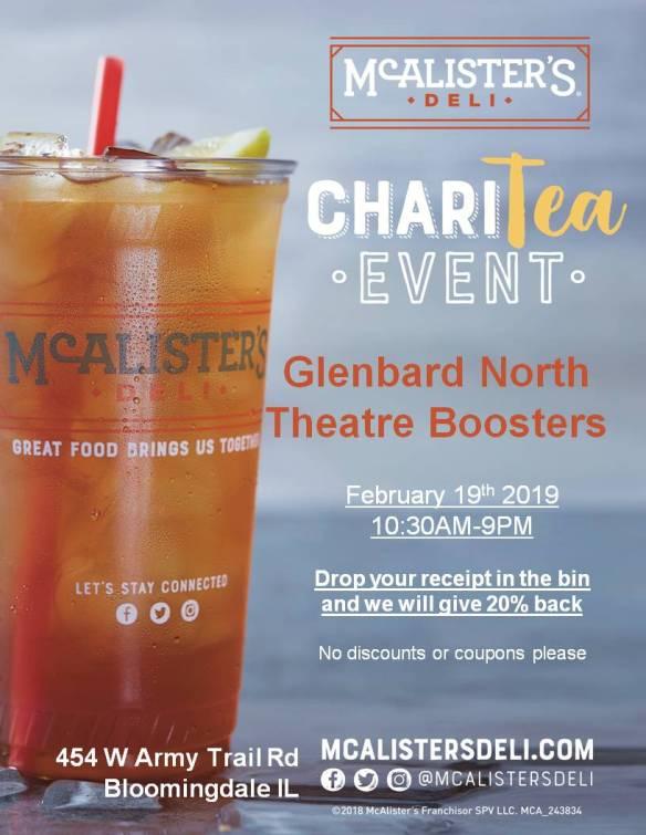 Glenbard North Theatre Boosters Feb 19th 2019